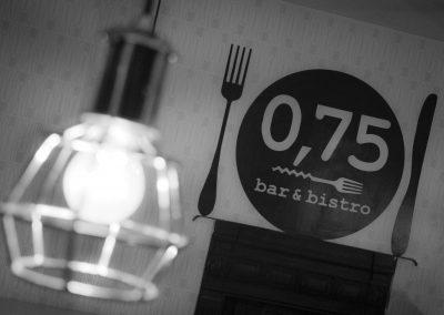 0,75 bistro & bar, borbár, étterem