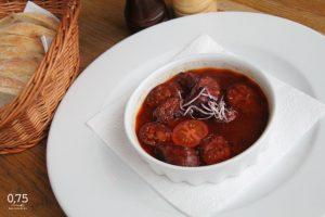 Vörösboros chorizo bagettel - 0,75 bistro Bazilika, borbár, étterem