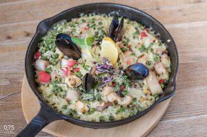 Paella tenger gyümölcseivel - 0,75 bistro, borbár, étterem a Bazilika mellett