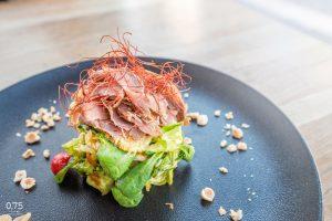 Füstölt kacsamell saláta, chilis barack chutney - 0,75 bistro Bazilika, borbár, étterem